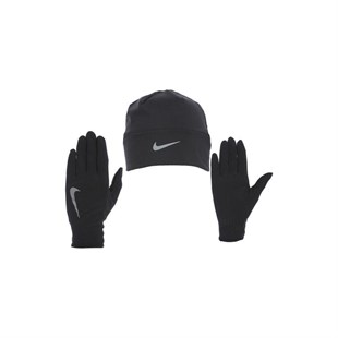 Nike Mens Run Dry Hat And Glove Bere Eldiven Seti N.RC.37.082.LXL